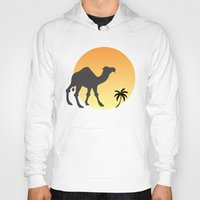 camel Hoodies featuring Camel by Geni