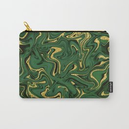 Luxury Marble Pattern in Emerald, Gold, Green and Copper Carry-All Pouch