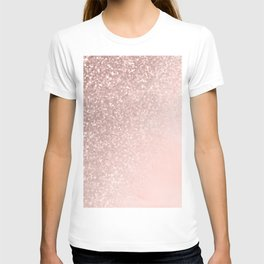 Rose Gold Sparkles on Pretty Blush Pink II T-shirt
