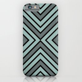 VooDoo Gray with Black Stripes iPhone Case