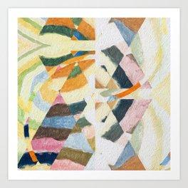 abstract color play Art Print