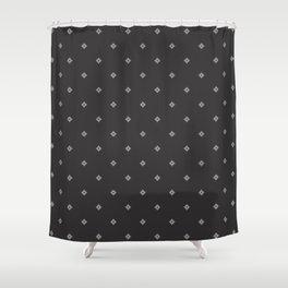 Pixel Diamonds - Grayscale Shower Curtain