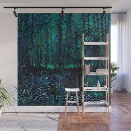 Vincent Van Gogh Trees & Underwood Teal Green Wall Mural