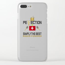 Rger Federer Perfection Clear iPhone Case