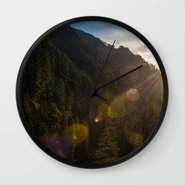 Valley Sunset - Oregon Wall Clock