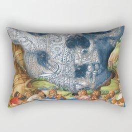 Rubino Vintage Skull Garden Rise Rectangular Pillow