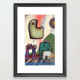 Advancing Gently, Along Rivers and Streams Framed Art Print