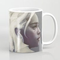 mother of dragons Mugs featuring Mother of Dragons by Artgerm™