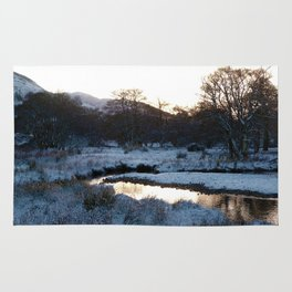 Snow on the hills Rug