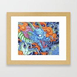 Azure Dragon Framed Art Print