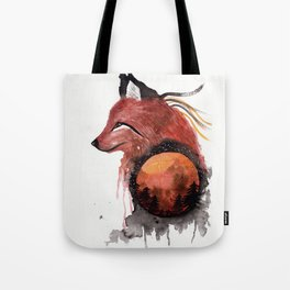 Tetrad the Bloodmoon Fox Tote Bag