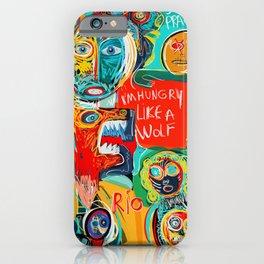 I'm hungry like a wolf Street Art Graffiti iPhone Case