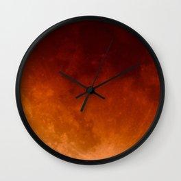 Blood Moon | Wall Clock