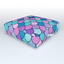 Sparkle Scales Outdoor Floor Cushion