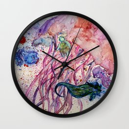 Jellyfish and Friends Wall Clock