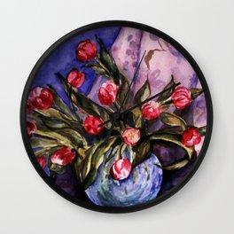 Bowl of Tulips Wall Clock