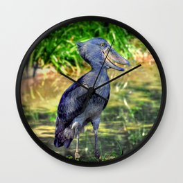 The Shoe-billed Stork Wall Clock