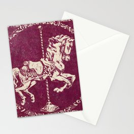 Vintage Carousel Horse - Mulberry Stationery Cards