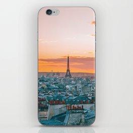 Sunset in Paris (Color) iPhone Skin