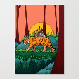 The forest and the tiger Canvas Print