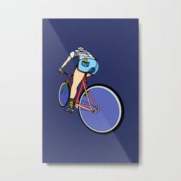 Fixie Cyclist Metal Print