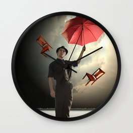 On the Water in a Storm of Chairs Wall Clock