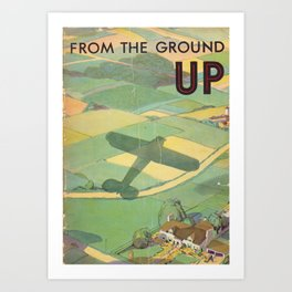 Vintage Book Cover - From the Ground Up - Standard Oil Company (1930) Art Print