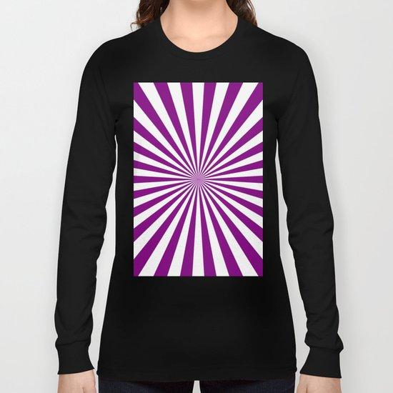 Starburst (Purple/White) Long Sleeve T-shirt