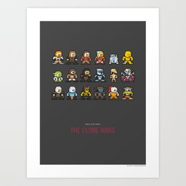 Mega Star Wars: The Clone Wars Art Print