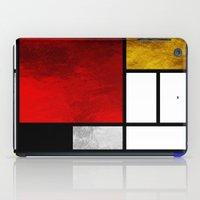 mondrian iPad Cases featuring Luxury Mondrian by Dizzy Moments