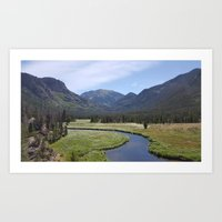 Summer in the Rockies- Meadow Views of the East Inlet Trail Part Two of Four Art Print