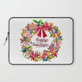 Christmas Wreath Painting Illustration Design Laptop Sleeve