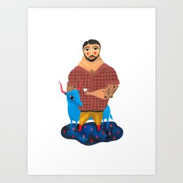 Paul Bunyan and Babe Art Print
