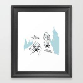 Souvenirs - Skiing Framed Art Print