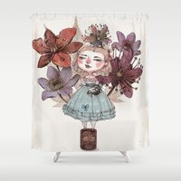 coffe Shower Curtains featuring Coffe time by flaviasorr