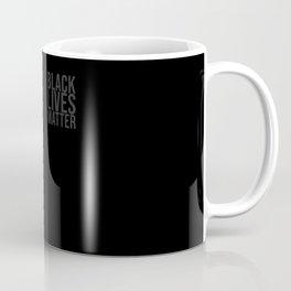 Black Lives Matter Square Gray Coffee Mug