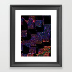 Electric Cubes  Framed Art Print