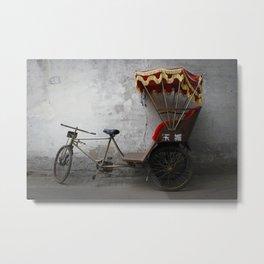 {the chinese rickshaw} Metal Print