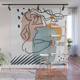 Nude Woman Line Art Print, Fine Line Body Poster, Female Form Wall Art, Female Body Artwork Wall Mural