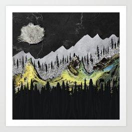 Silicone Mountains Art Print