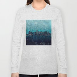 boston city skyline Long Sleeve T-shirt
