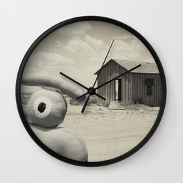 abandoned dust house with ojolo Wall Clock
