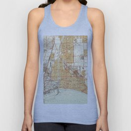 Vintage Map of Long Beach California (1949) Unisex Tank Top