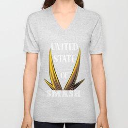 United State Of Smash, All Might Unisex V-Neck