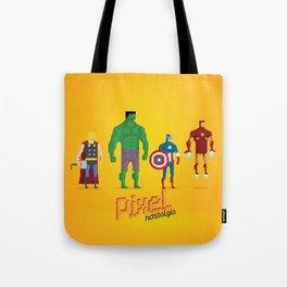 Super Heroes - Pixel Nostalgia Tote Bag