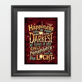 Happiness can be found Framed Art Print