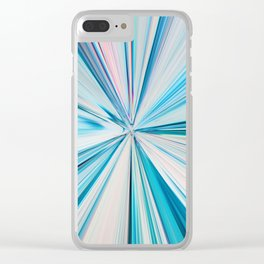 426 - Abstract grass design Clear iPhone Case