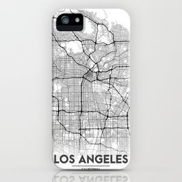 Minimal City Maps - Map Of Los Angeles, California, United States iPhone Case