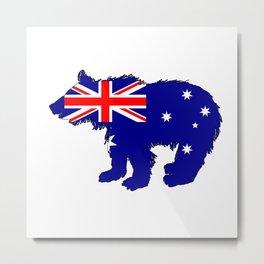 Australian Flag - Bear Cub Metal Print