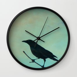 Spring Day And A Litle Crow Wall Clock